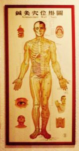 Behandlungskosten: Abbildung Mensch mit Meridianen