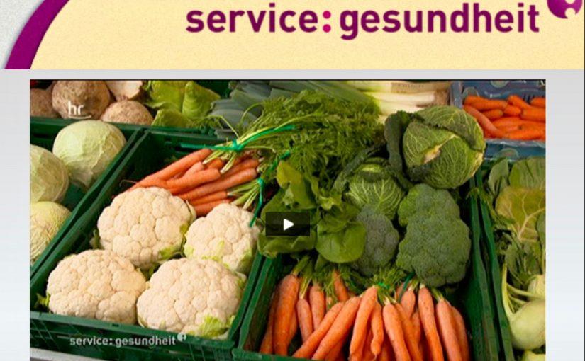 Gelenkschmerzen: Screenshot Beitrag service-gesundheit des hr-Fernsehens