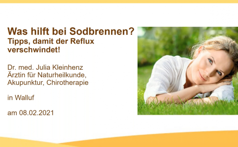 Screenshot Sodbrennen Webinar in Zusammenarbeit mit Luvos Heilerde