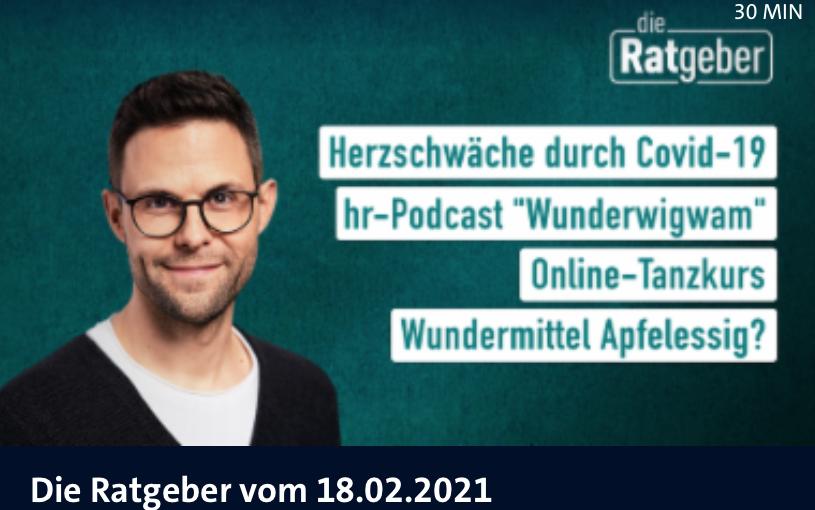 """Apfelessig: Screenshot hr-Fernsehen """"Die Ratgeber"""""""