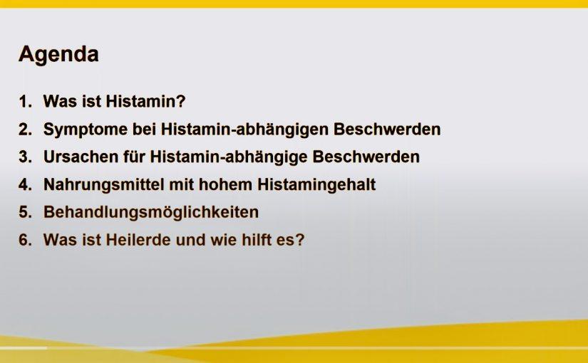 Screenshot Histamin Webinar in Zusammenarbeit mit Luvos Heilerde